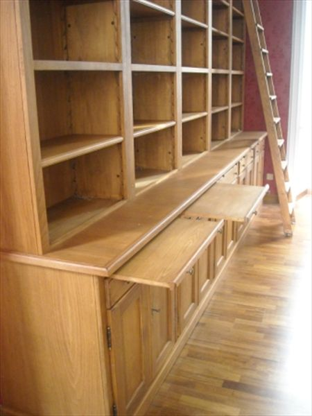 bookcase in solid wood