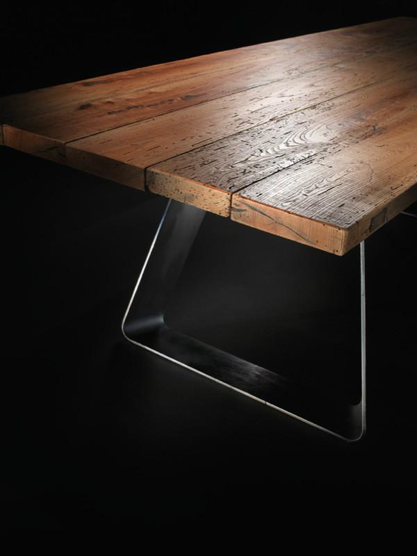 Tavolo design con legni secolari al naturale - Tavolo legno naturale ...